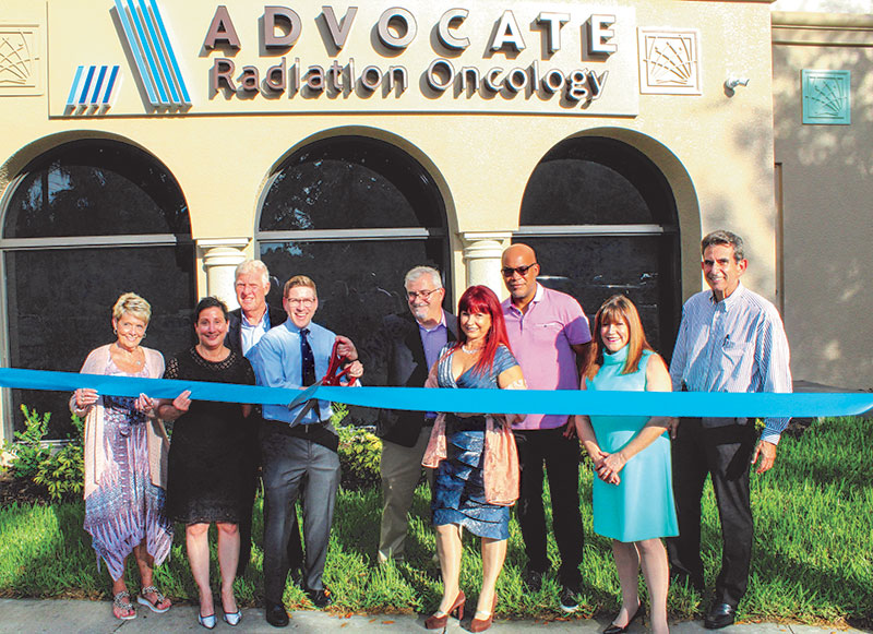 Advocate Radiation Oncology team standing in front of Bonita Springs Office